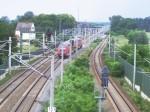 Blick auf den Buschower Bahnhof