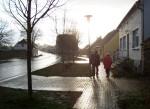 Dorfstrasse nass