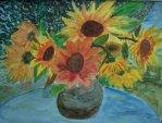 Sonnenblumen Acryl